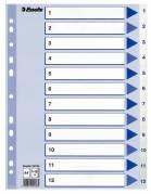 Esselte register A4 PP 1-12 hvid