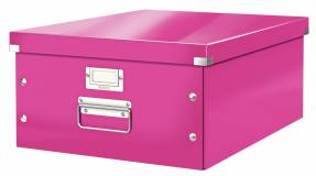 Leitz WOW arkivboks Click & Store A3 pink