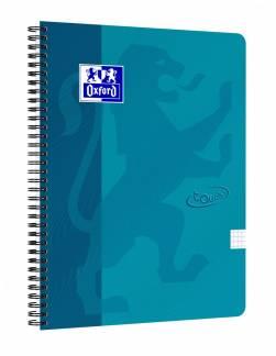 Oxford Touch notesbog A4+ kvadreret turkis