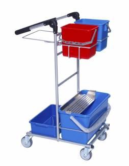 ERGO Mini Dryp rengøringsvogn med 2 spande