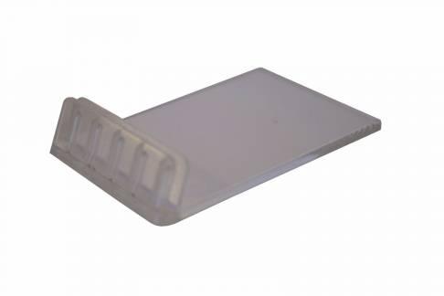 Skilteholder 60x40x13mm klar plast