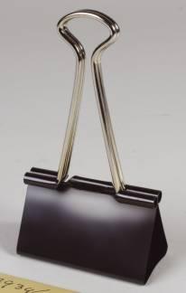Office papirklemme Foldback 50mm sort stål