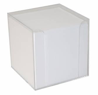 Kubusdispenser med 700 ark 9,5x9,5x9,5 cm klar plast