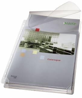 Leitz katalog plastlomme med klap 170my A4 klar