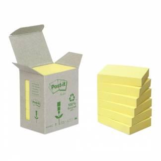 Post-it notes Miljø genbrugspapir 38x51mm gul