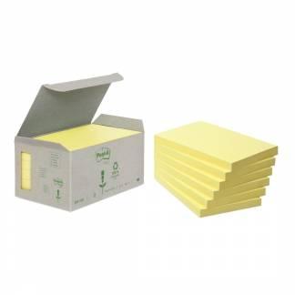 Post-it notes Miljø genbrugspapir 76x127mm gul