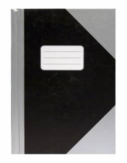 Office kina notesbog A4 sort/sølvgrå