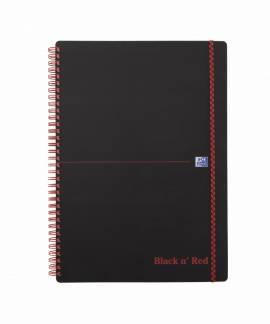 Oxford Black n´Red PP notesbog A4 kvadreret