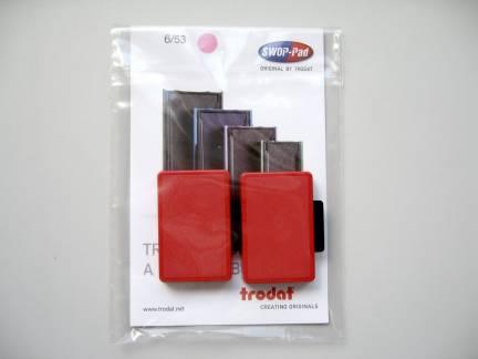 Farvepude til Trodat 5204,5206 6/56 rød