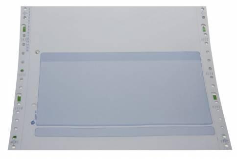 Edb-papir 3-banet med tryk 8,5 x240mm 26020 blå, 800 stk