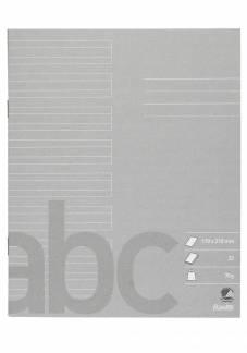 Bantex skolehæfte 17x21cm 24 linjer 32 sider 70g grå