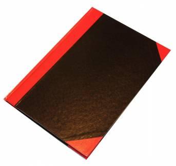 Q-line Kinabog A4 linieret sort/rød