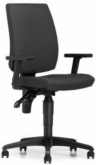 Taktik kontorstol med bløde hjul og armlæn mørkegrå