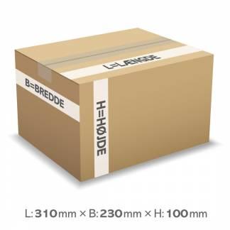 Master'In bølgepapkasse 7 liter 3mm 310x230x100mm (A4)