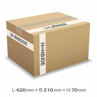 Master'In bølgepapkasse 6 liter 3mm 420x210x70mm
