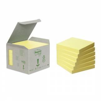 Post-it notes Miljø genbrugspapir 76x76mm gul