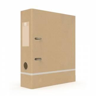 Oxford Touareg bæredygtig genbrugs brevordner A4 80mm beige
