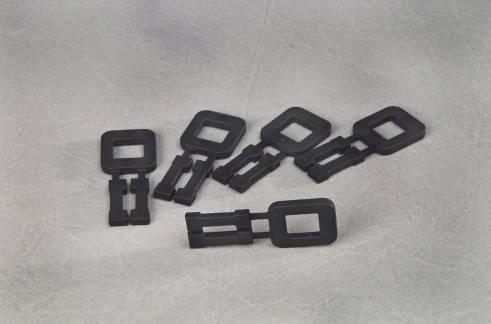 Plasthåndspænder til 12mm bånd sort, 1000 stk