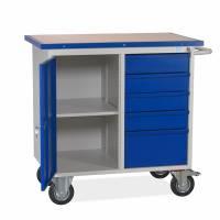 Værkstedsvogn 1090x960x600mm blå dør