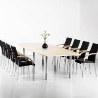 Consensus konferencebord 350x120cm med birk bordplade