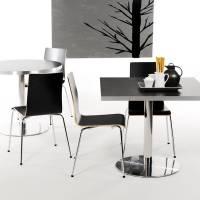 Cafestol VII standard med krom stel og sort laminat