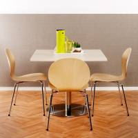 Cafestol VI standard med krom stel og birk laminat