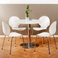 Cafestol VI standard med krom stel og hvid laminat