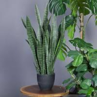 Naturtro kunstig plante Svigermors skarpe tunge 90cm høj