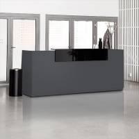 Libra Receptionsskranke komplet med skrivebord 260 cm antracit