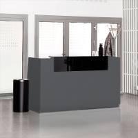 Libra Receptionsskranke med hæve-sænkebord 173 cm antracit