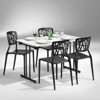 Dinner Style klapbord 120x80cm hvid med sort stel