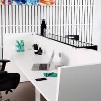 Libra Receptionsskranke komplet med skrivebord 260 cm hvid