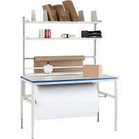 Pakkebord nr. 5 med 2 hylder  og aksel 1500x800mm