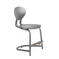 Rocka elevstol i plast med siddehøjde 440mm grå/grå