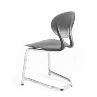 Rocka elevstol i plast med siddehøjde 440mm grå/alugrå