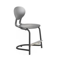 Rocka elevstol i plast med siddehøjde 440mm grå/mørkegrå