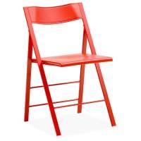 Mini plast klapstol rød med rødt stel
