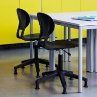Office Rocka elevstol med hjulkryds sort