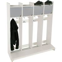 Eira garderobe vægmodel med skilleplade til 4 pladser