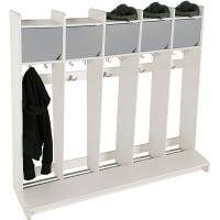 Eira garderobe vægmodel med skilleplade til 5 pladser