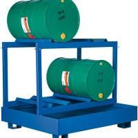 Tøndeopbevaring til 4 tønder liggende 440 liter