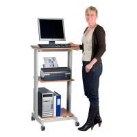 Computer og printerbord med hjul 60x50cm bøg
