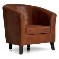 London loungestol brun