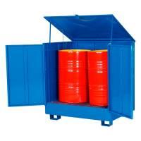Tøndeopbevaring til 4 tønder låsbart skab