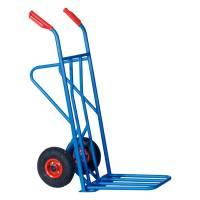 Sækkevogn med gummihjul 250 kg blå