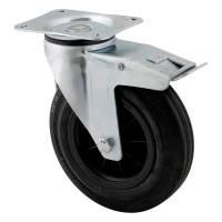 Hjul bytte til drejelig hjul med bremse