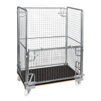 Rullecontainer med nedfaldbar side 1500x1200x800mm