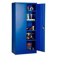 Stålskab med 4 hylder 1800x800x457mm blå