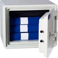 Brandsikkert dokumentskab med lås 334x424x388mm