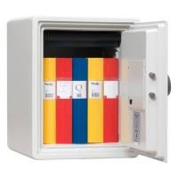 Brandsikkert dokumentskab med lås 415x305x360mm